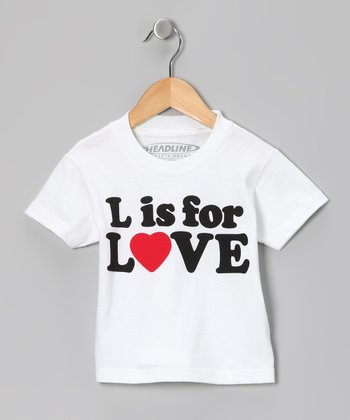 White 'L is for Love' Tee - Toddler & Kids