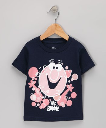 Navy Vintage 'Mr. Bubble' Tee - Toddler & Kids