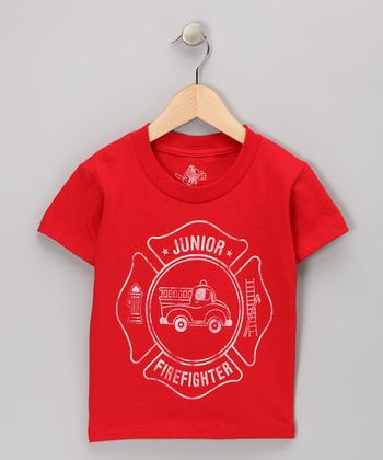 Red 'Junior Firefighter' Tee - Toddler