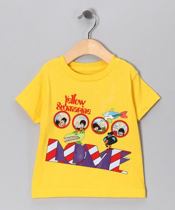 Yellow Beatles 'Love' Tee - Toddler & Girls