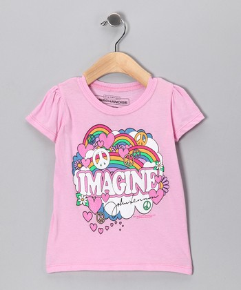 Pink Lennon 'Imagine' Tee - Toddler & Girls