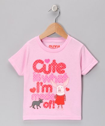 Pink 'Cute Is What I'm Made Of' Tee - Toddler & Girls