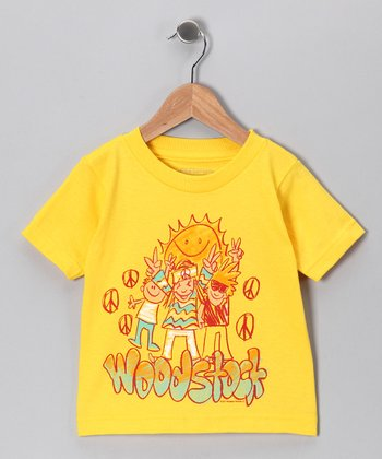 Yellow 'Woodstock' Sunshine Tee - Toddler & Girls