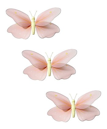 Peach Butterfly Set