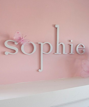 White Wooden Letter Wall Art