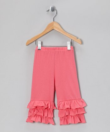 Pink Ruffle Capri Pants - Toddler