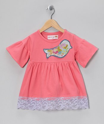 Peach Baby Bird Top - Toddler & Girls