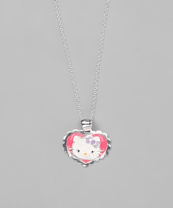 Pink Hello Kitty Heart Necklace