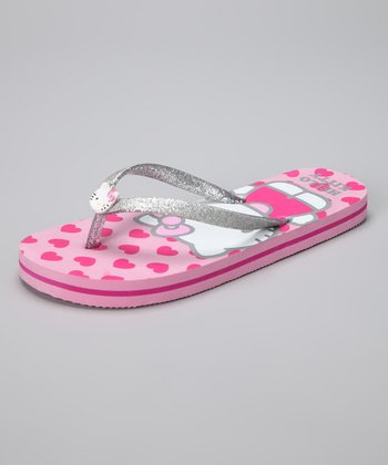 Pink Hello Kitty Hearty Flip-Flop