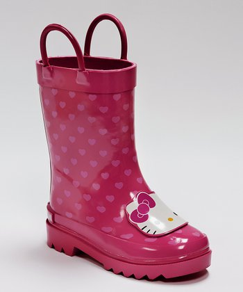 Pink Dottie Hello Kitty Rain Boot
