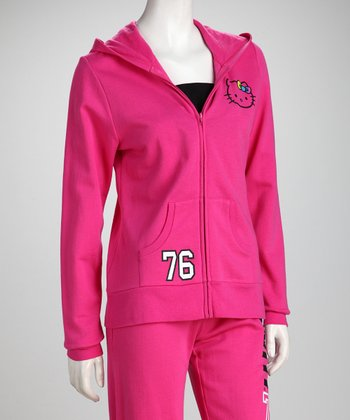 Pink Zip-Up Hoodie - Women