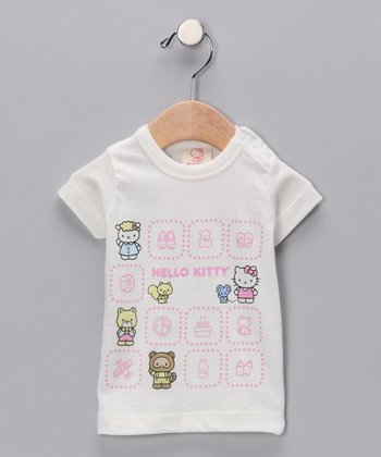 Off-White Hello Kitty Pals Short-Sleeve Organic Tee - Infant