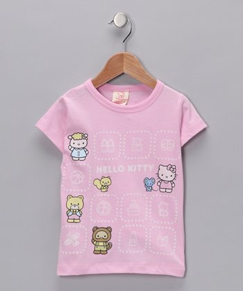 Pink Hello Kitty Friends Organic Tee - Toddler