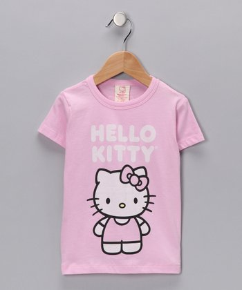 Pink 'Hello Kitty' Organic Tee - Toddler