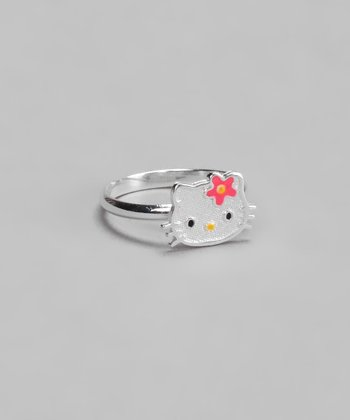 Pink Enamel Hello Kitty Ring