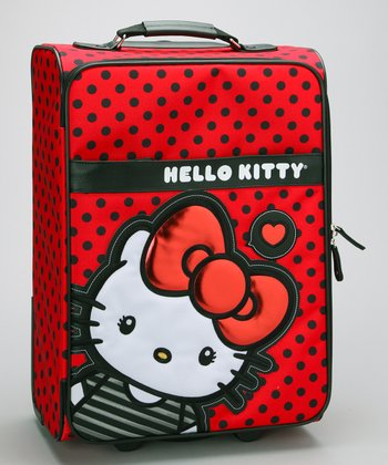 Red & Black Polka Dot Hello Kitty Suitcase