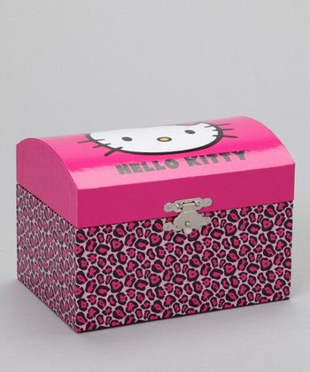 Fuchsia Leopard Hello Kitty Musical Jewelry Box