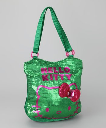 Hello Kitty Green Viva La Glam Sequin Tote