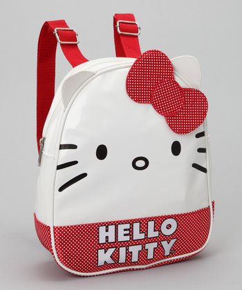 Red & White 'Hello Kitty' Mini Backpack