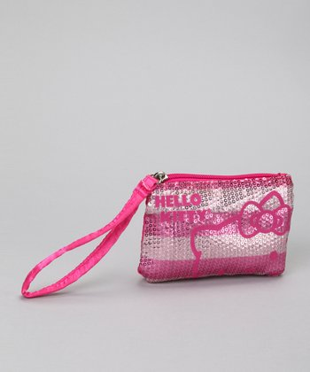 Pink & Silver Hello Kitty Shimmery Nights Coin Purse