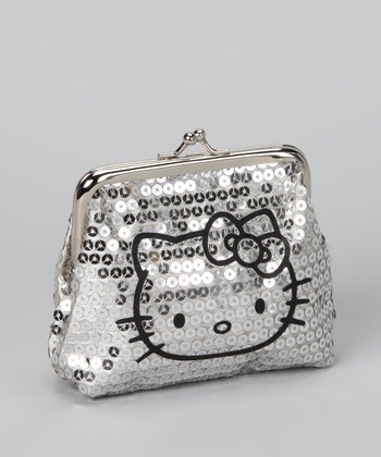 Hello Kitty Silver Sequin Coin Purse