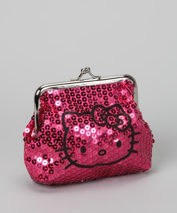 Hello Kitty Pink Sequin Coin Purse