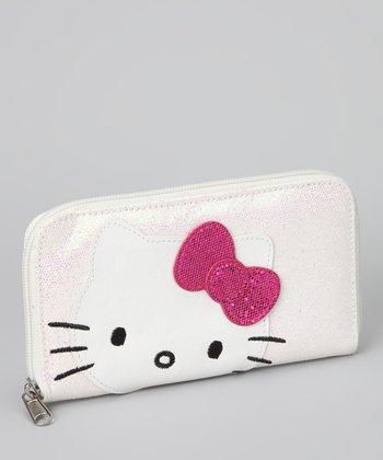 Hello Kitty White Sparkly Sequin Wallet