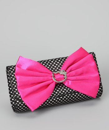 Black & Pink Hello Kitty Bow Clutch