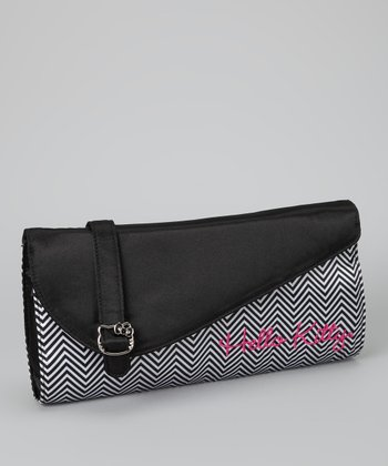 Black & White Zigzag Hello Kitty Clutch