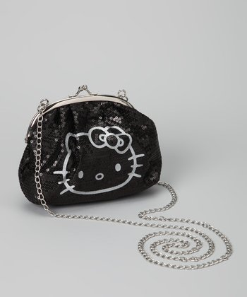 Hello Kitty Black Sequin Crossbody Bag