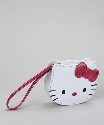 Pink Glitter Bow Coin Purse
