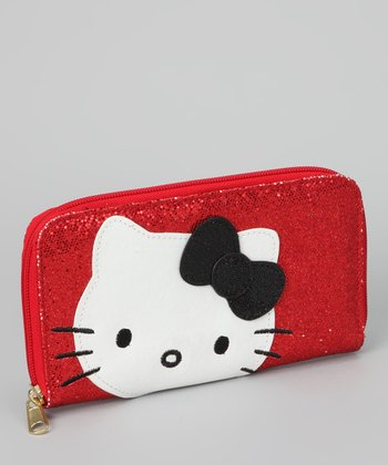Hello Kitty Red Sparkly Sequin Wallet
