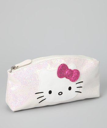 Light Pink Hello Kitty Glitter Cosmetic Bag