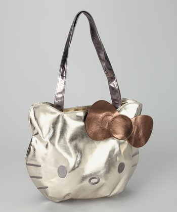Hello Kitty Gold Metallic Tote