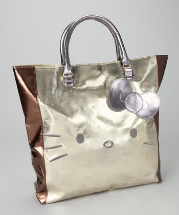 Hello Kitty Gold Metallic Shopper