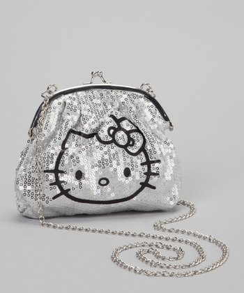 Silver Sequin Hello Kitty Crossbody Bag