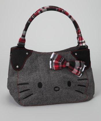 Black & White Hello Kitty Herringbone Tote