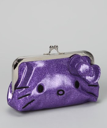 Purple Hello Kitty Glitter Wallet