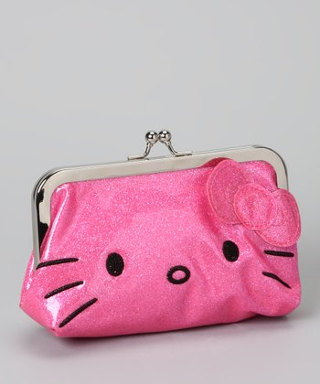 Hello Kitty Pink Glitter Wallet