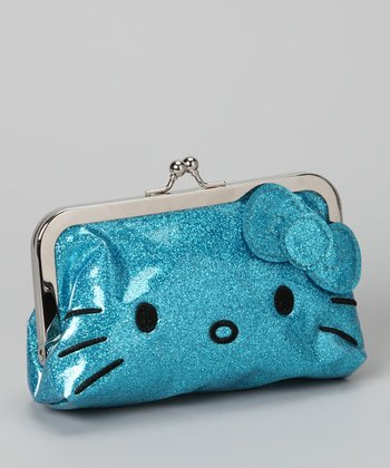 Blue Hello Kitty Glitter Wallet