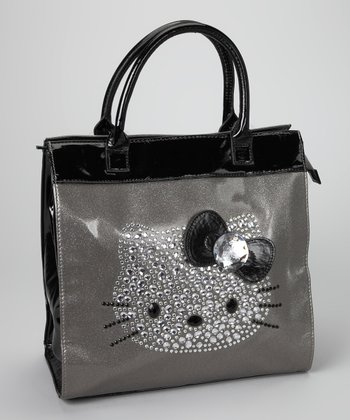 Hello Kitty Silver & Black Rhinestone Tote