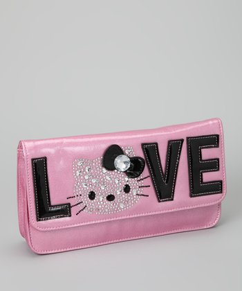 Pink 'Love' Hello Kitty Clutch