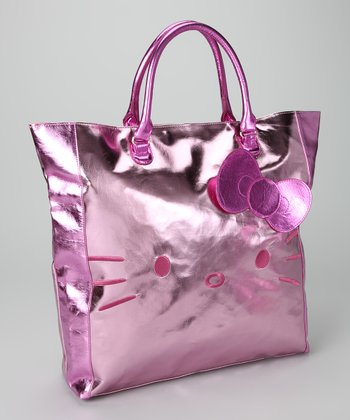 Pink Metallic Hello Kitty Shopper