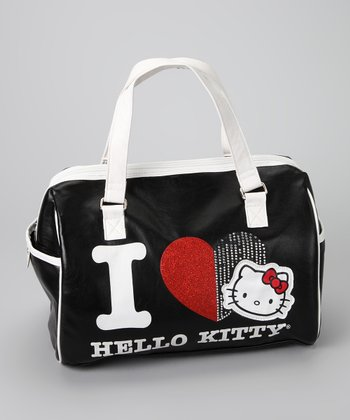 Black Hello Kitty Heart Satchel