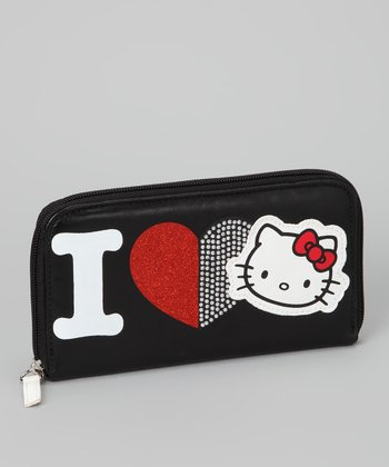 Hello Kitty Black Heart Wallet