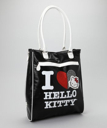 Black 'I Love Hello Kitty' Tote