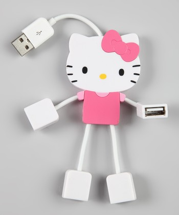 Pink Hello Kitty Four-Port Kitty USB Hub