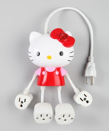 Red Hello Kitty Four-Outlet Molded Power Strip