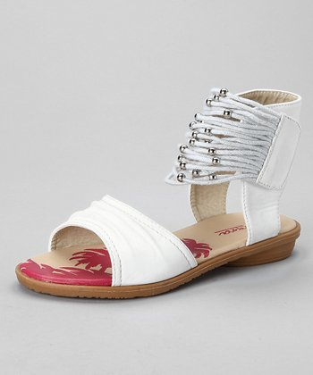 White Gladiator Sandal - Girls
