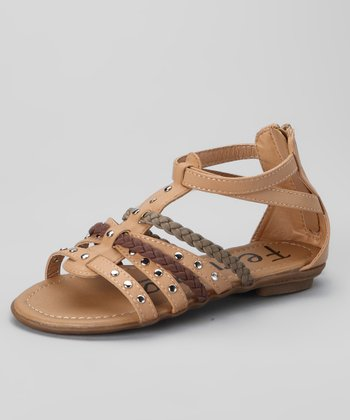 Camel Braided Sandal